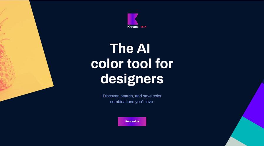 Khroma AI Color Tool For Designers