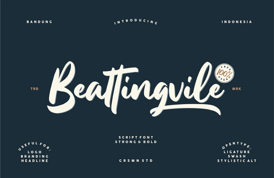 Beattingvile Beautiful Script Font