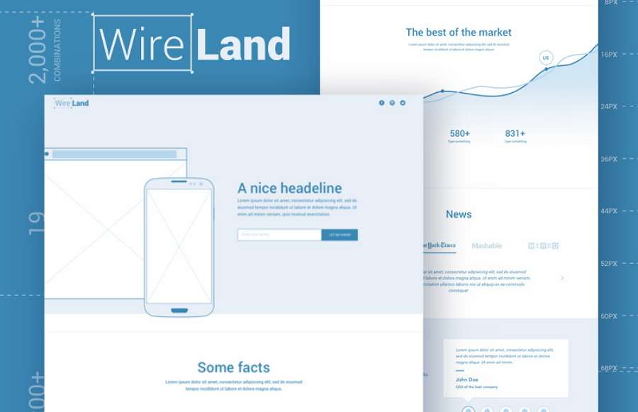 Wireframe Layout Collection