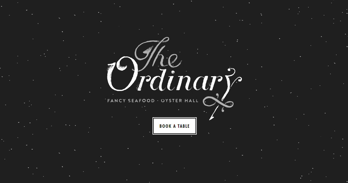 Eat the ordinary