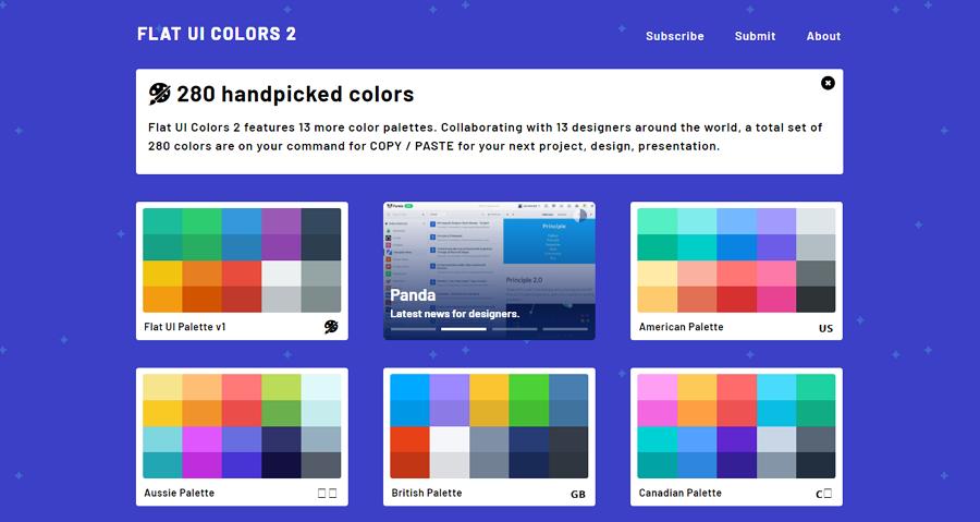Flat UI Colors Quick Color Palette Tool