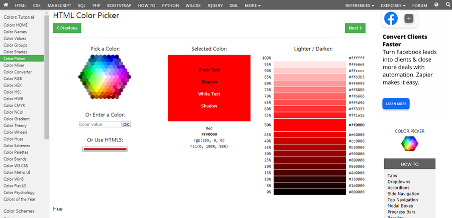 HTML Color Picker Free HTML Color Picker Tool