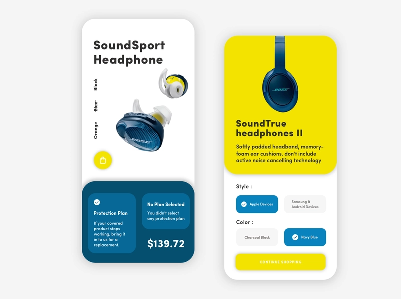 Bose App UI Design