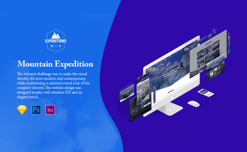 Redesign website Mountain Expedition