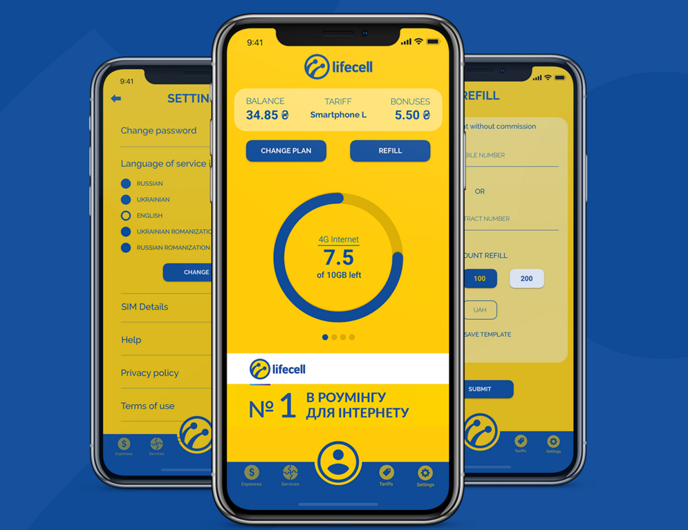 LifeCell App Redesign