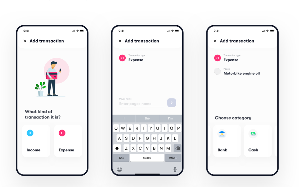 Budget tracker - App UI Kit