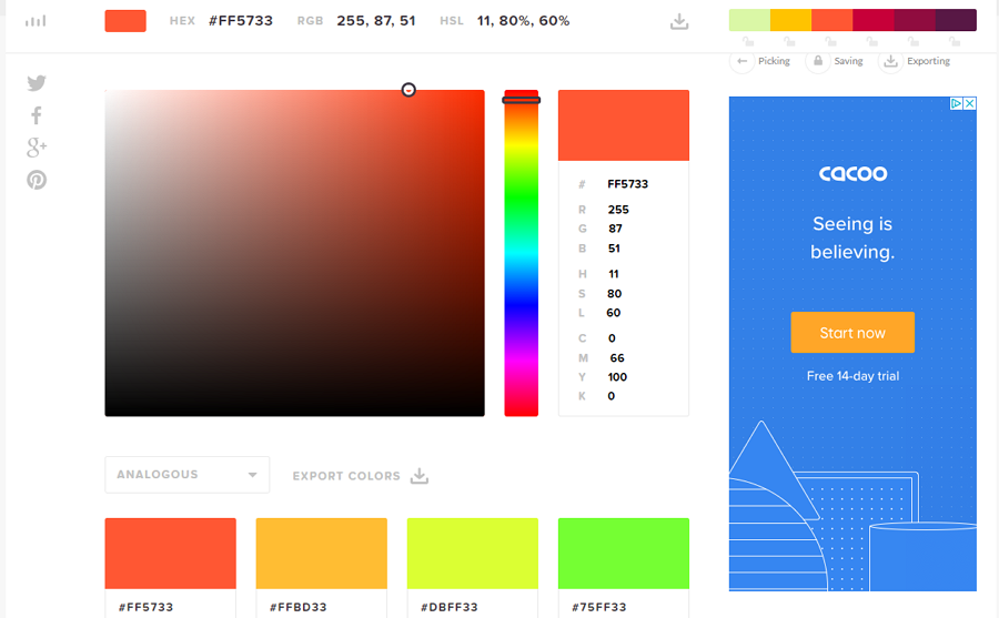 HTML Color Codes Convenient Color Picking and Reusing Website