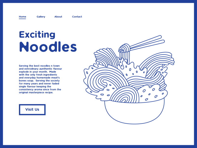 Exciting Noodles Website Page