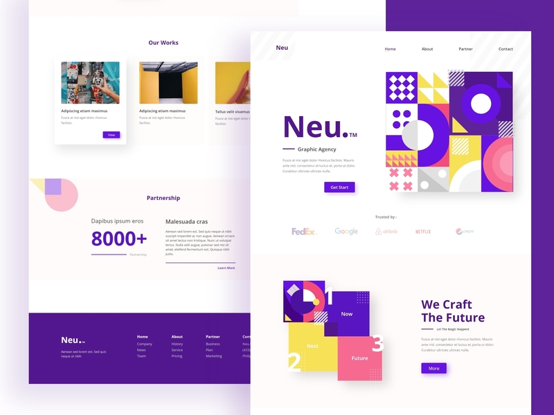Geometric shape Exploration for landing page full