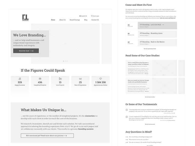 Business Website Wireframe