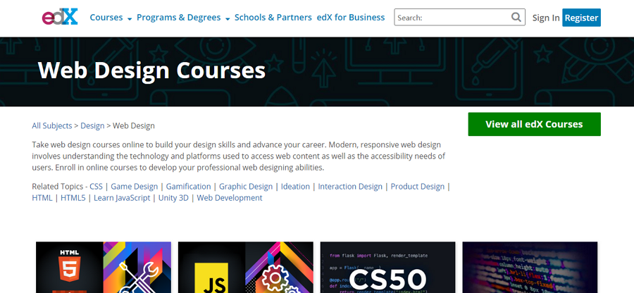Web Design Courses on edX