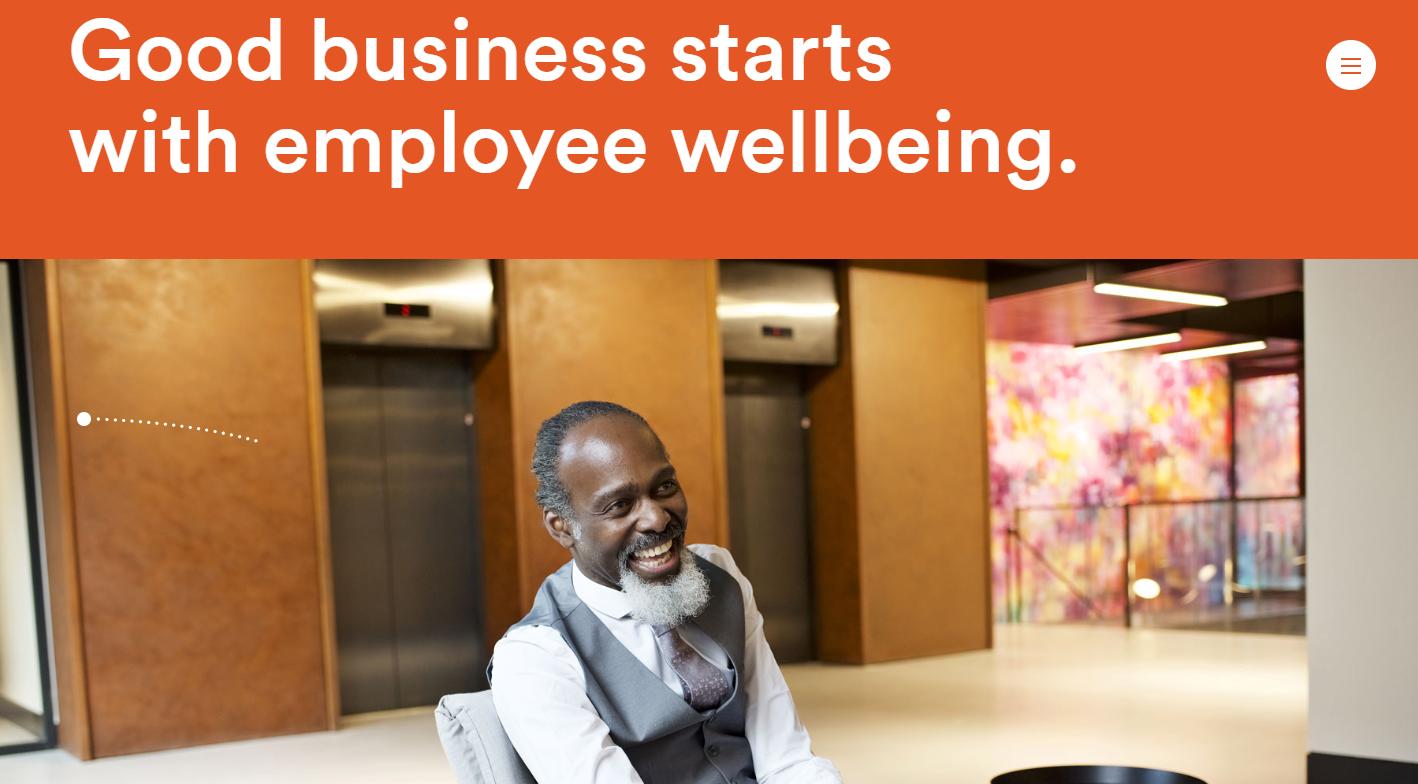 Happy Maven – parallax employee wellbeing specialist website template