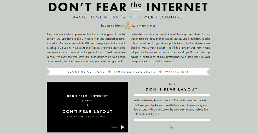 13. Web design course - Don't fear the internet