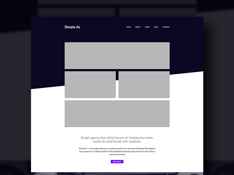 Website Wireframe/Layout