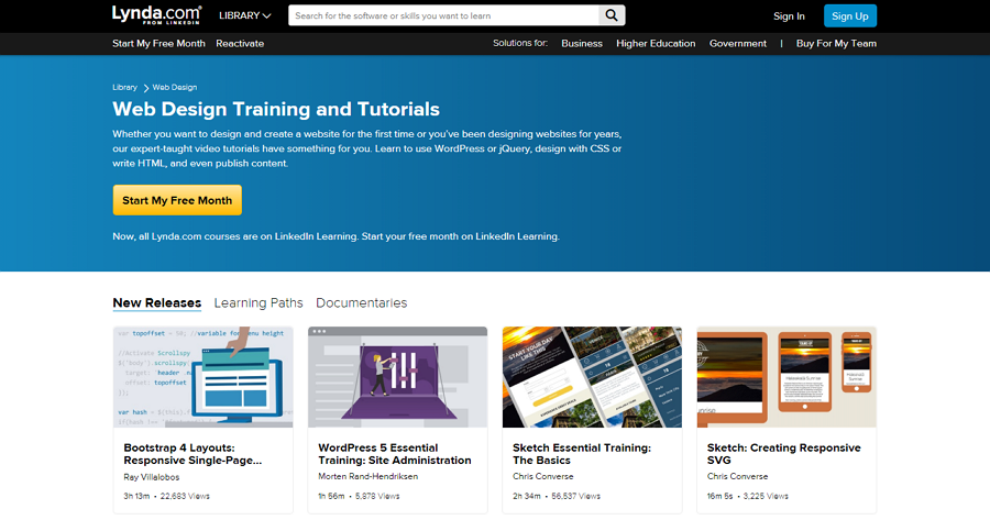 Web design course - Lynda