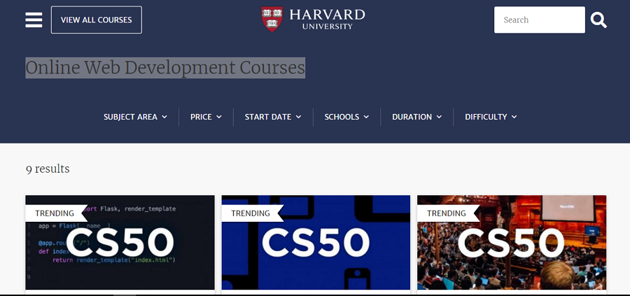 Web design course - Harvard