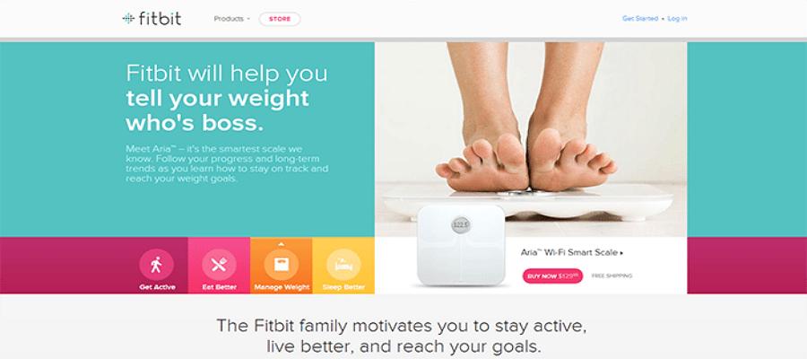 Flat web design - Fitbit