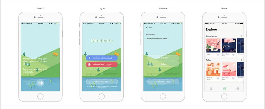 Mindmate (App, Health)—Android app mockup