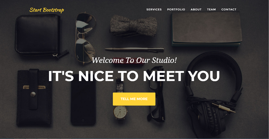 Start Bootstrap – a free design studio portfolio template