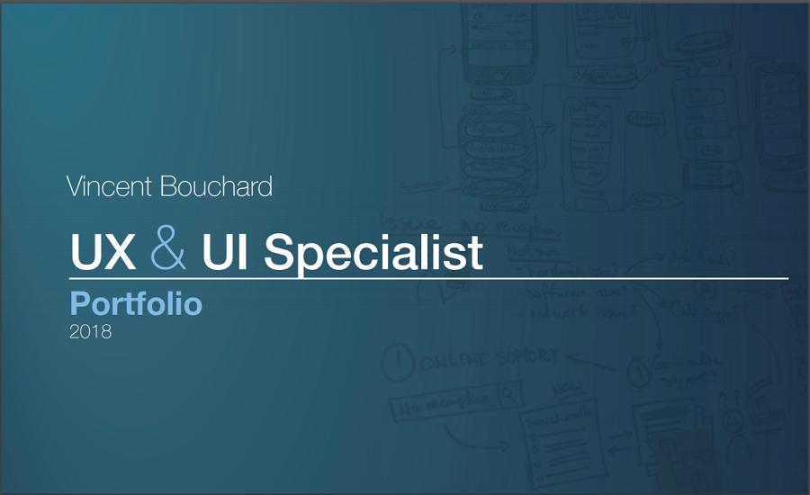 Vince Bouchard – a senior UX/UI product designer portfolio