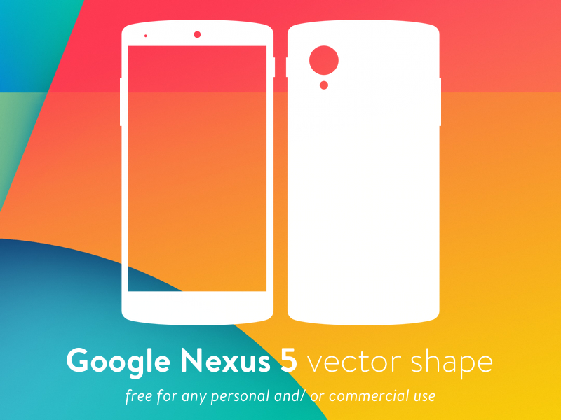 Nexus 5 Vector Shape SVG Resource