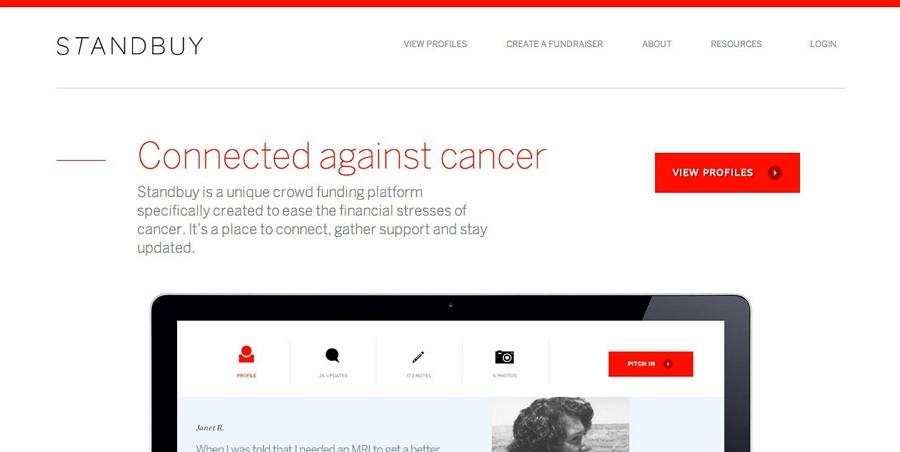 Flat web design - Standbuy