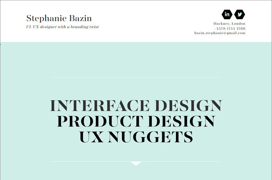 Stephanie Bazin – a UI/UX designer with a branding twist