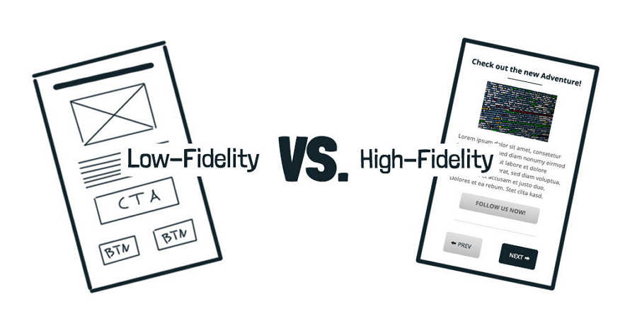 Low Fidelity Wireframe VS High Fidelity Wireframe