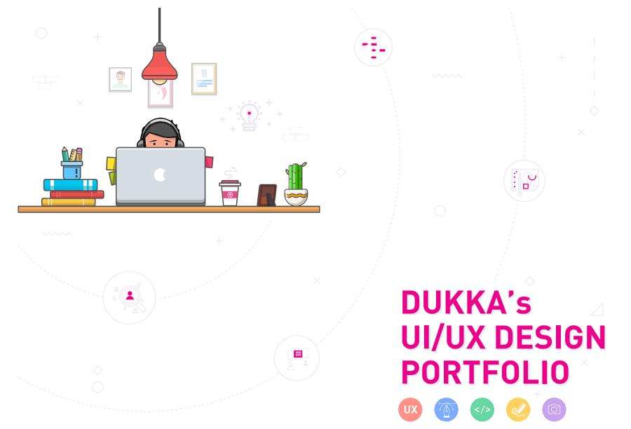 Dukka – a UI/UX designer portfolio