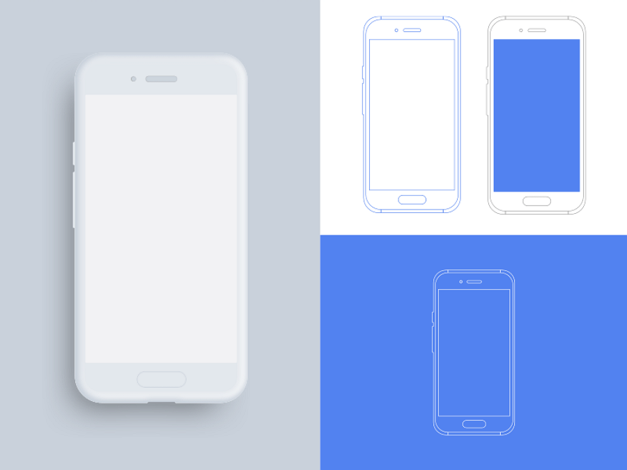 Android Device Outline Mockups Sketch Resource