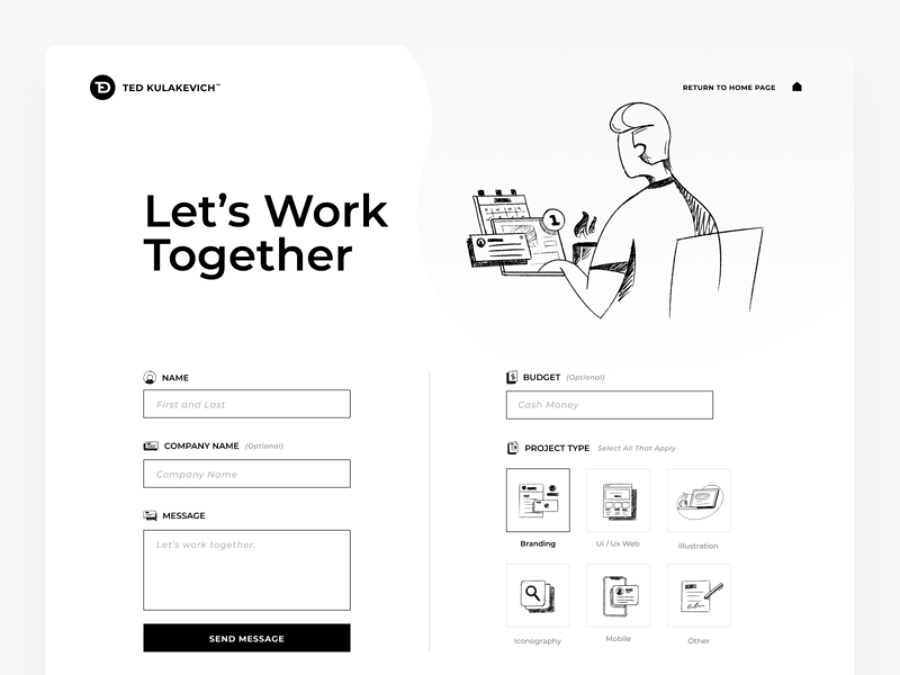 Flat web design - New Personal Site