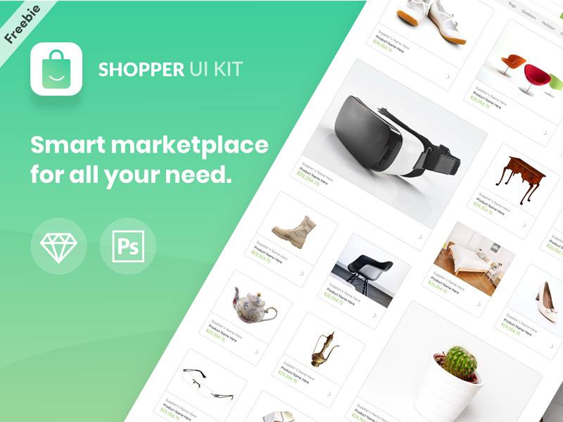 Shopper Ui Kit - Freebie